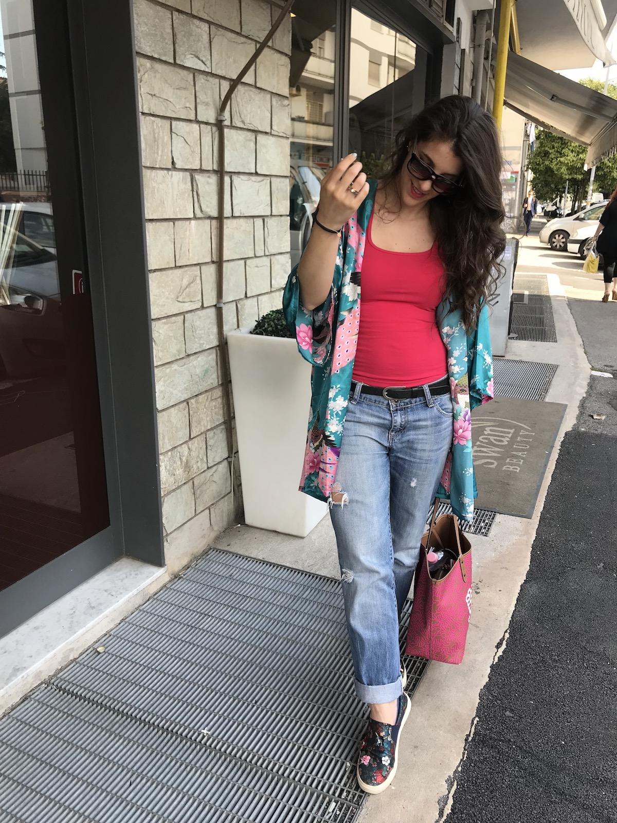 Kimonó és tornacipő