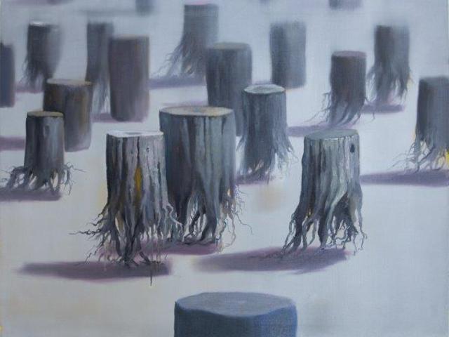 Fa által az erdőt