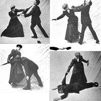 Női önvédelmi gyakorlati kézikönyv 1908-ból