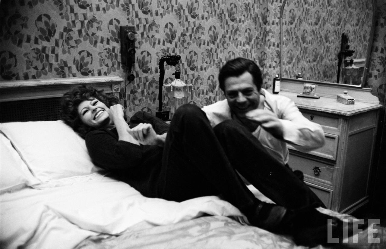Sophia Loren és Marcello Mastroianni.