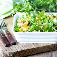 Ebéd: csirkesaláta + epres-rozmaringos pohárkrém, Vacsora: zöldbabsaláta főtt tojással
