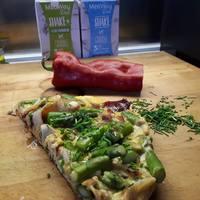 Vacsoratipp: spárgás-sonkás omlett