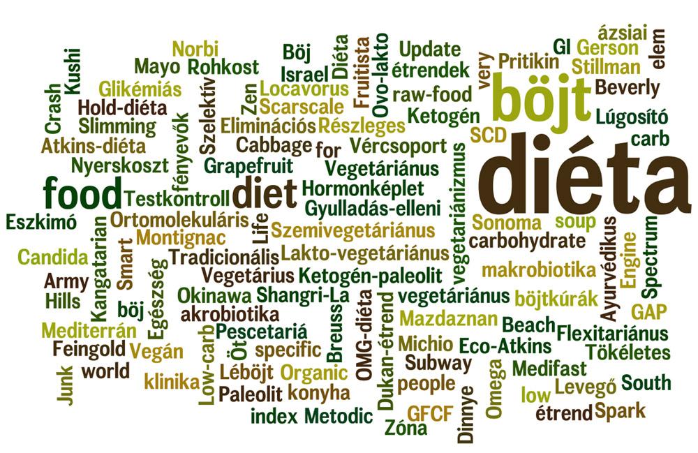 az egészséges étrend ajánlása