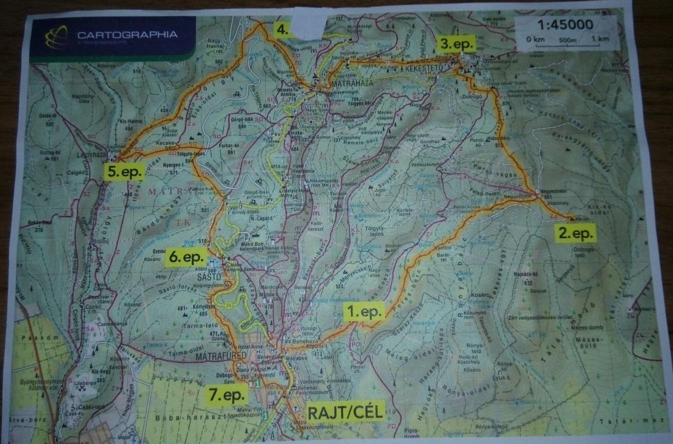 Mátra Decathlon 25 km-es túra