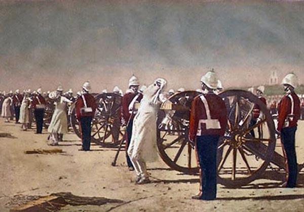 Verescsagin: 1881-ben készült festménye a lázadás leveréséről.