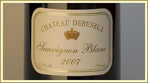 Château Dereszla Sauvignon Blanc 2007