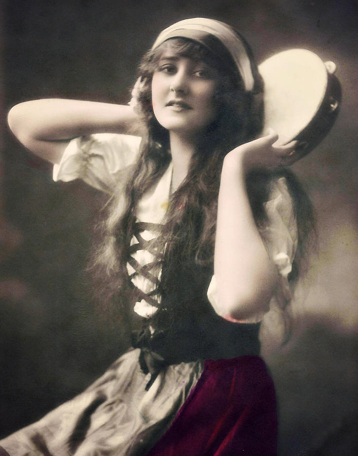 gypsy-girl-with-tamborine-lora-mercado.jpg