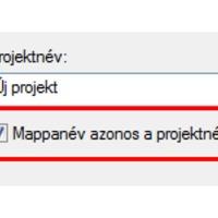 Mappanév azonos a projektnévvel