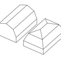 Tetőforma: manzárd és manzárd kontytető