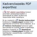 Allplan 2013 - Kedvenckezelés PDF exporthoz