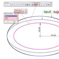 Ellipszissel párhuzamos szerkesztése az Allplan 2011-ben