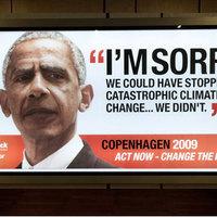 Obama plakátokon kér bocsánatot a világtól