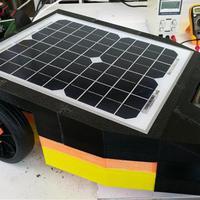 Napenergiával működő fűnyírórobot