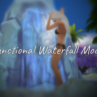 The Sims 4: Functional Waterfall Mod