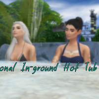 The Sims 4: Functional In-ground Hot Tub Mod