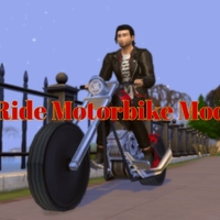 The Sims 4: Ride Motorbike Mod