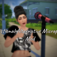 The Sims 4: Functional Alternative Microphone Mod