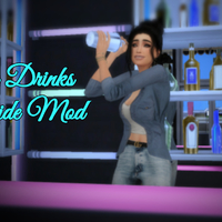 The Sims 4: Bar Drinks Override Mod