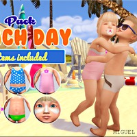 The Sims 4: Toddler - Beach Day Stuff Pack