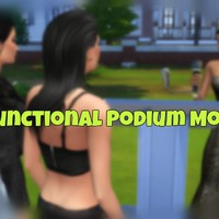 The Sims 4: Functional Podium Mod