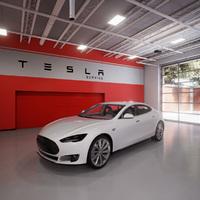 Tesla autó üzlet Unreal Engine 4 alatt