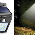Őrült tél végi napelemes LED lámpa vásár!