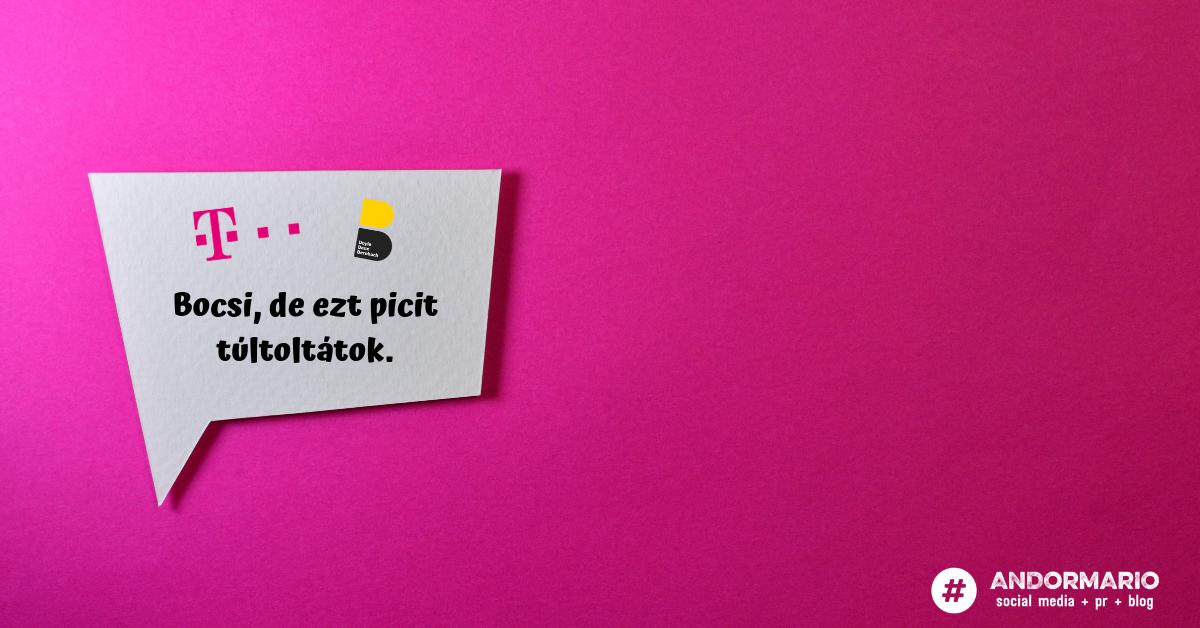 Bocsi, Telekom: jót akartatok, csak rosszul