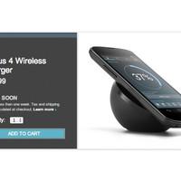 Vezeték nélküli töltő a Nexus 4-hez