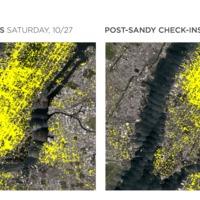 Adatvizualizáció: Foursquare és a Sandy hurrikán
