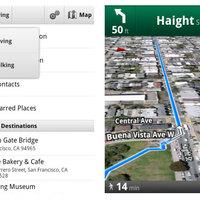 Gyalogos navigáció a Google Maps-ben