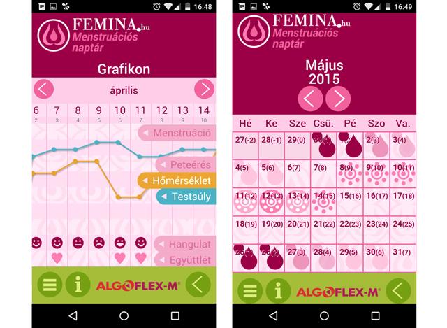menzesz naptár telefonra Egy magyar naptár alkalmazás   nőknek!   Android menzesz naptár telefonra
