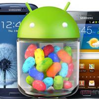Samsung Galaxy S III és további modellek Jelly Bean update-je