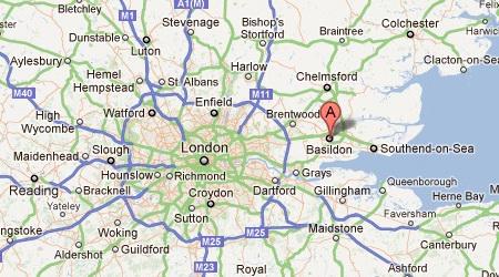 anglia város térkép Basildon   Anglia nem csak London! anglia város térkép