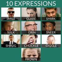 Facial expressions / Arckifejezések