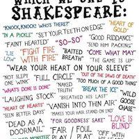Shakespeare - és a kifejezések, melyeket ő használt először