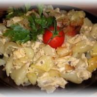 Sült paprika tojással