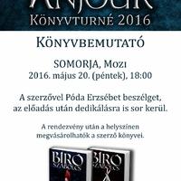 Anjouk Somorján – folytatódik a 2016-os székirodalmi könyvturné