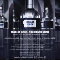 ABSOLUT MODE - Your Inspiration - Légy kreatív, pályázz és nyerj!