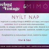 Programajánlunk: LoveBug Vintage & Mimóza nyílt nap