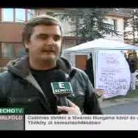 Demonstráció Bokros házánál - Híradó (EchoTV)
