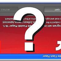 Hamis Adobe Flash frissítés a hirdetésben