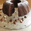 Csokis-mogyorós cukormentes kuglóf