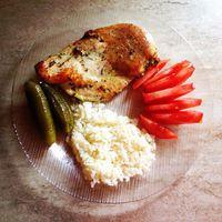 #my #healthy #lunch #cleankaja Zöldfűszeres-fokhagymás csirkemell