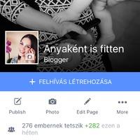 Elindult facebookon is az Anyaként is fitten :)