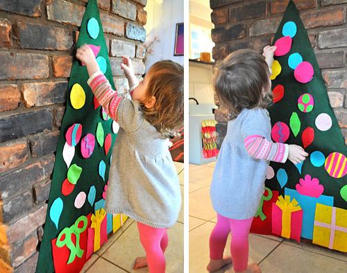 DIY karácsonyfa gyerekeknek<br />Forrás: pinterest.com