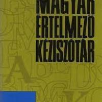A magyar nyelv értelmező szótára az iskolában