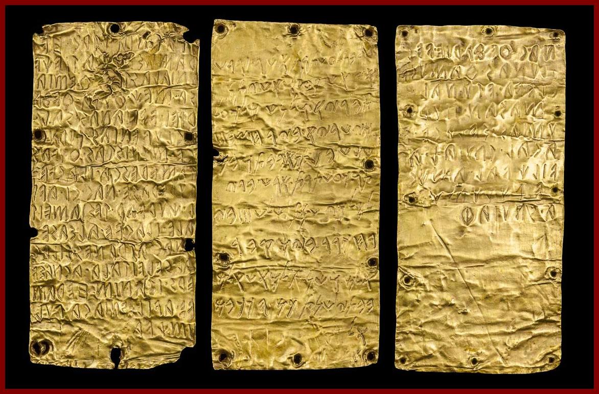 Íráshordozók az ókorban: fém, etruszk aranylemezek [TINTA Könyvkiadó]