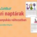 Letölthető február naptár - ezúttal három verzióban