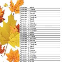Novemberi letölthető naptár