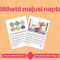Letölthető májusi naptárak